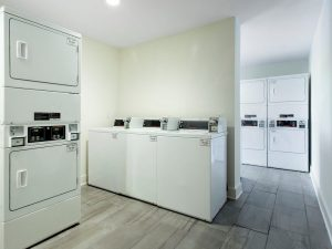 Resident community laundry facilities at The Laurel apartments for rent