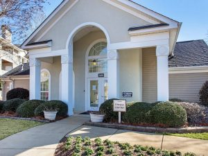 Entrance to fitness center at The Laurel apartments for rent in Spartanburg, SC