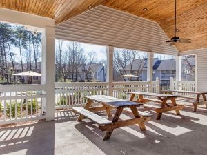 Outdoor picnic area at The Laurel apartments for rent in Spartanburg, SC