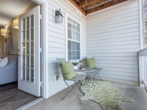 Private patio or balcony at The Laurel apartments for rent in Spartanburg, SC