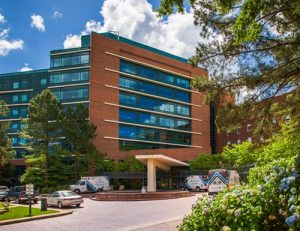 Exterior of Spartanburg Medical Center near The Laurel apartments for rent