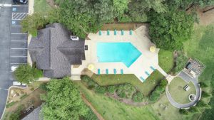 Aerial view of The Laurel apartments for rent in Spartanburg, SC